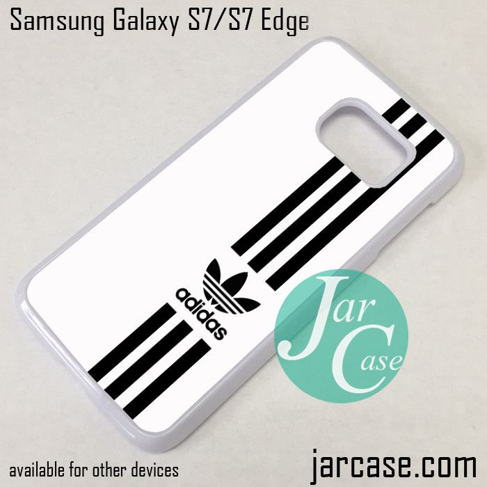 new style eb92a 2be21 White Straight Adidas Phone Case for Samsung Galaxy S7 & S7 Edge ...