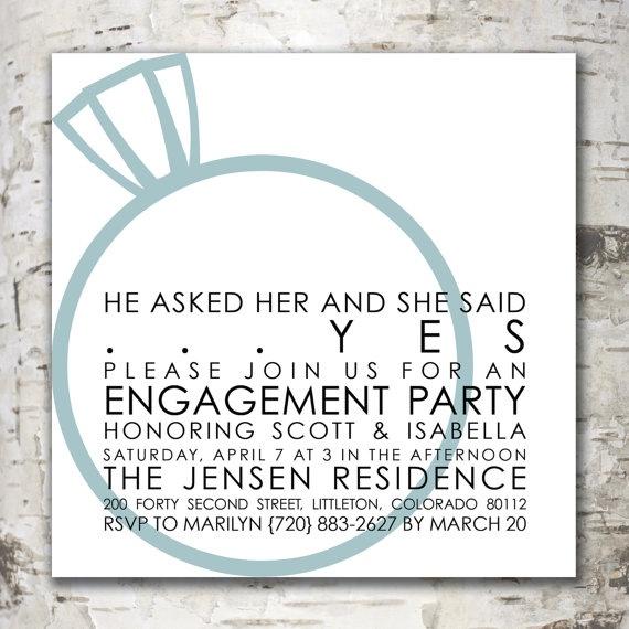 Having an engagement party? Chic invitations at www.stewartdesignstudios.etsy.com