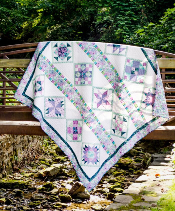 Garden trellis quilt for quiltblocks our products for Garden trellis designs quilt patterns