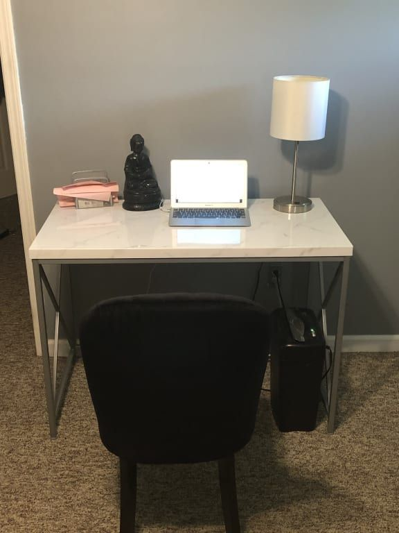 Just Home White Faux Marble Silver Desk Big Lots Silver Desk Faux Marble Marble Desk
