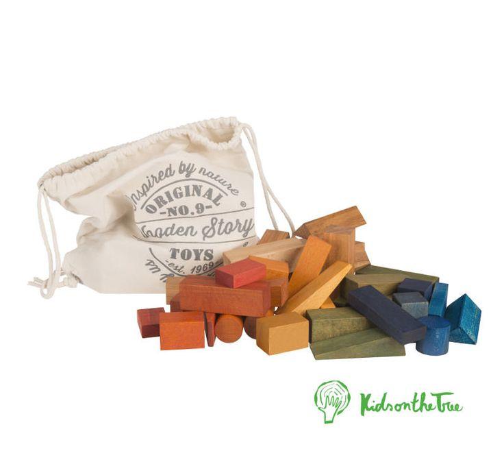 Blocchi Arcobaleno XL 50 pz – Blocchi di legno