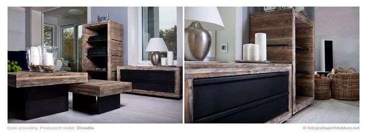 piękne połączenie drewna i stali