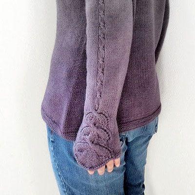 Ce patron vous propose de tricoter un pull simple avec un très jolie torsade sur les manches.