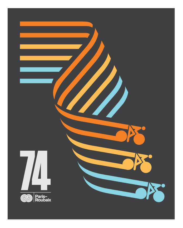 70's cycling related graphic design