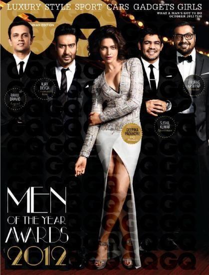 Deepika Padukone, Rahul Dravid, GQ Magazine [India] (October 2012)