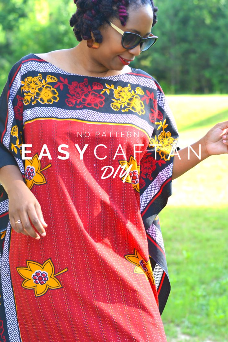 Diy Easy Four Seam Summer Caftan Casual Vintage And