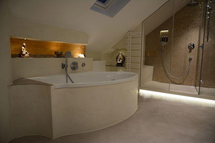 Steinteppich badezimmer ~ Pin by wand eins on fugenlose badezimmer pinterest wand