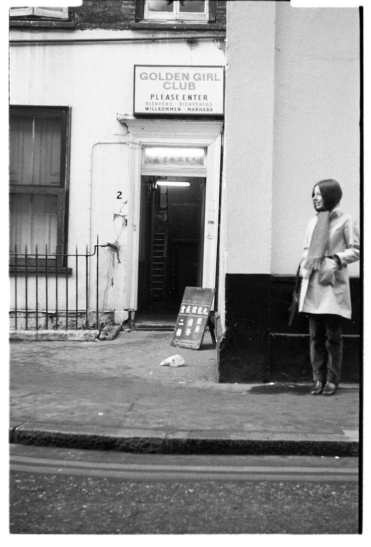 'Golden Girl Club' in Meard Street, Soho 1968. For more on the history of Meard Street see http://patrickbaty.co.uk/2013/06/30/meard-street/