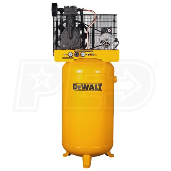 Buy DeWalt DXCMV5048055 Direct. Free Shipping. Tax-Free. Check the DeWalt 5-HP 80-Gallon Two-Stage Air Compressor (230V 1-Phase) ratings before checking out.