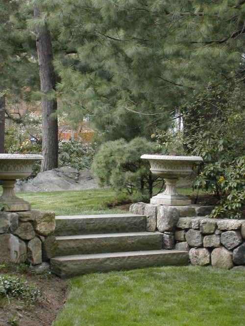 rock steps - a friend of ours said he will help us with a project like this for our front entrance, hopefully this summer woo!