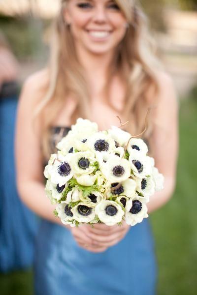 Bukiet ślubny - anemony // Wedding bouquet - anemones  #wedding #bouquet