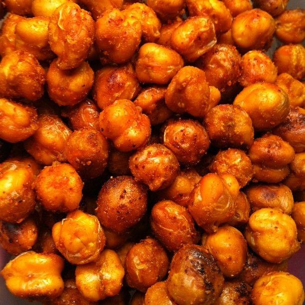 Super Snack! Spicy Crunchy Chickpeas