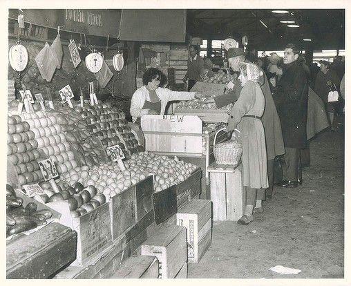 Vegetables stalls at the Victoria Market. July 27, 1965.