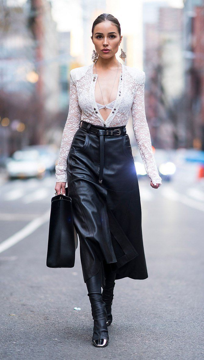 Get the look celeb leather skirts forecasting to wear for spring in 2019