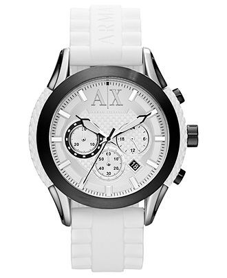 17 best ideas about ax watches men s watches nice a x armani exchange watch men s chronograph white textured silicone strap 47mm ax1225