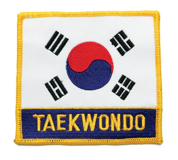 """KOREA FLAG PATCH with """"TAE KWON DO"""""""