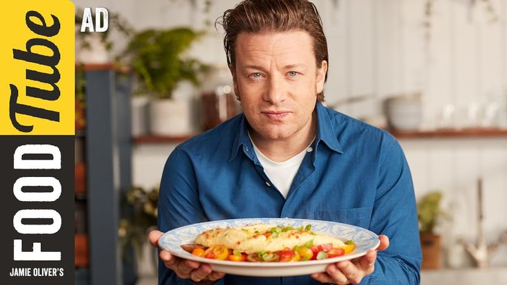 Awesome omelette. It's scrambled eggs.  This egg fusion recipe by celebrity chef Jamie Oliver lays on top of tomato salad. To top it off, you drizzle homemade chili sauce over all of it.Watch for instructions to an eggs-cellent breakfast dish.