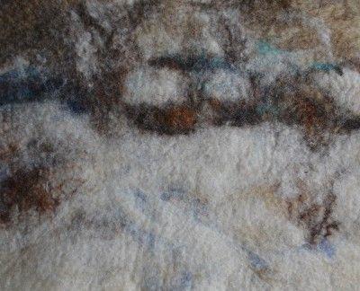 Панно Зимние сумерки (мокрое валяние)