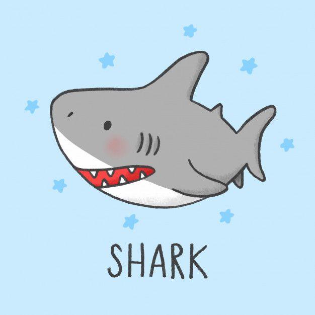 Easy Cute Cartoon Shark