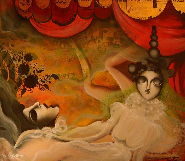 Amintire din Persia – pictura pe panza #art, #Painiting, #Creative