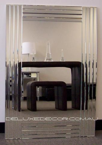Bevelled Frameless Modern Art Deco Wall Mirror 4543 (900 x 700 mm, 1000 x 700mm) http://deluxedecor.com.au/products-page/wall-mirrors/bevelled-frameless-modern-art-deco-wall-mirror-4543-900-x-700-mm/
