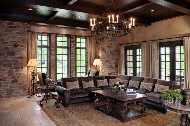 mediterranean living room like castle looking the luxury. Black Bedroom Furniture Sets. Home Design Ideas