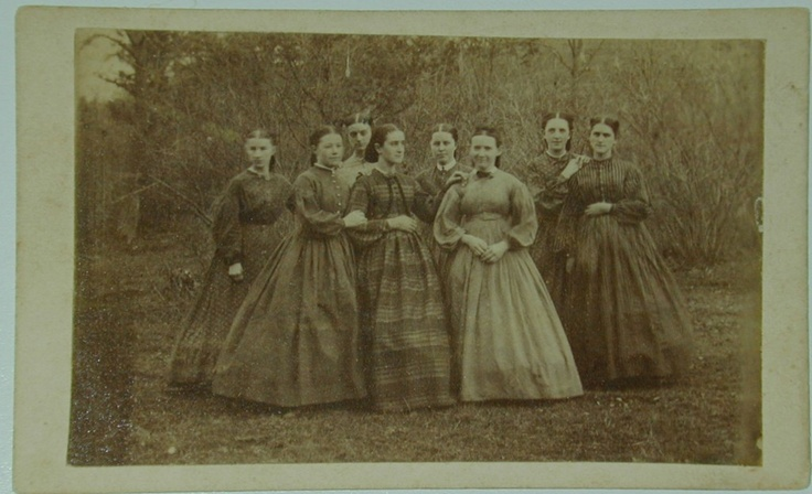 CIVIL WAR FIELD NURSES CDV – A RARE AMERICAN CIVIL WAR IMAGE | eBay- I don't know if they are nurses, but it's a lovely group of ladies.