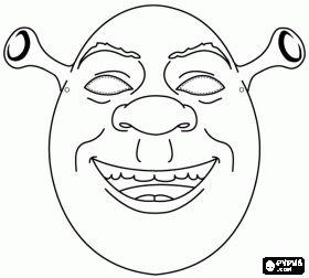 Shrek Mask coloring page