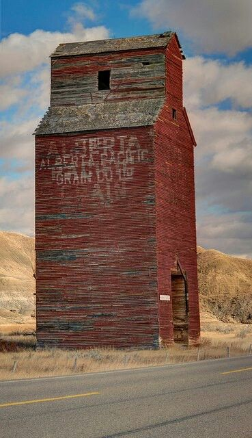 Wow, this is an odd shaped barn!  It's a Canadian Grain Elevator...