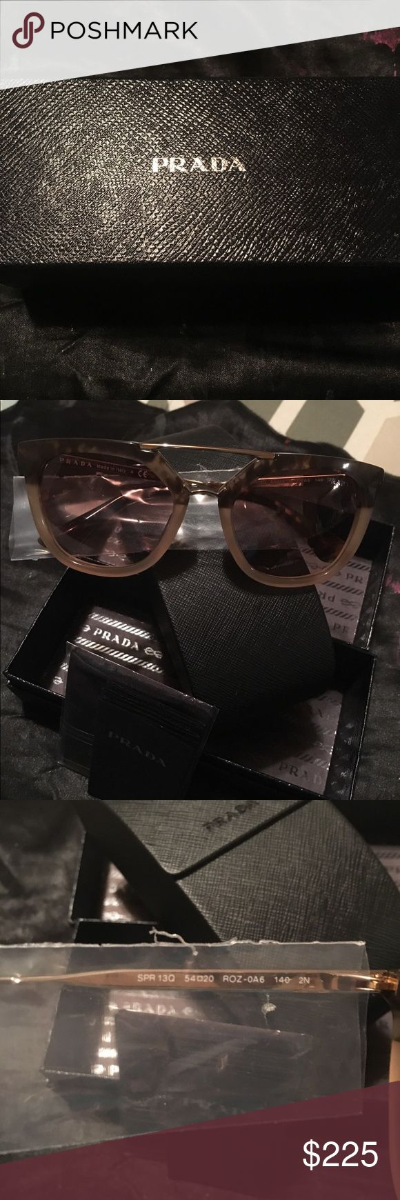Authentic Prada Sunglasses Brand New Authentic Prada Sunglasses.. Only tried on not sure if I want to really sale.. Prada Accessories Sunglasses