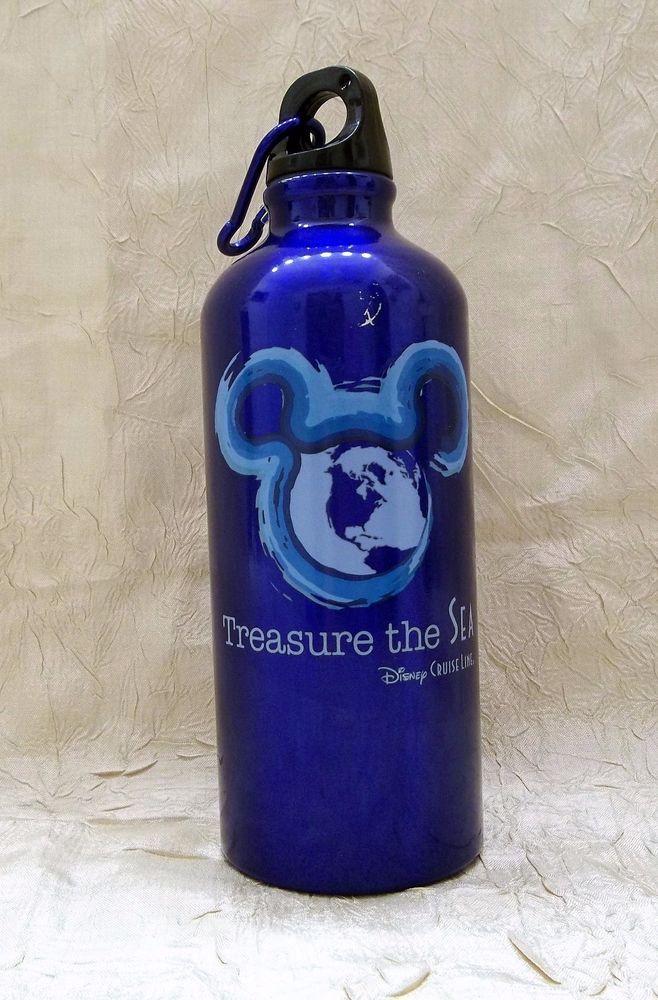 Disney Cruise Line Treasure The Sea Aluminum Travel Water Bottle