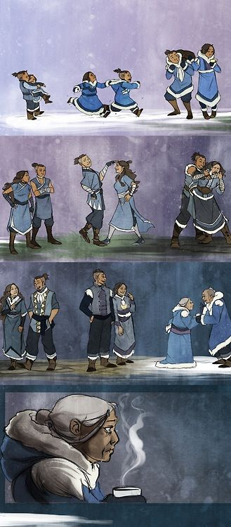 Katara and Sokka - So cute I love their good brother and sister relationship!! It's definitely not like my brothers and me…