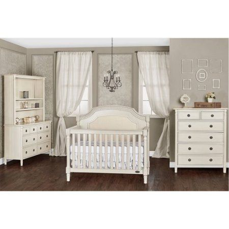 Evolur Julienne 5 In 1 Convertible Crib, Choose Your Finish, Beige