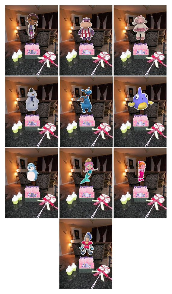 DIY 12 Small Doc McStuffins Birthday Party by SMARTIESPARTIES, $10.00