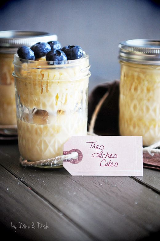 Tres Leches Cakes in a Jar recipe - a sweet gift idea for the holidays.