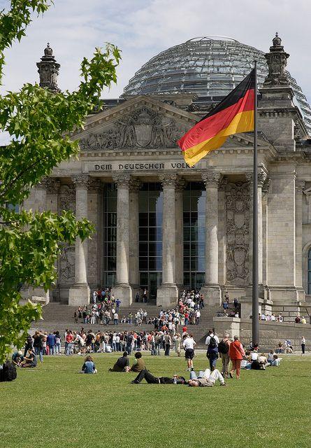ღღ Reichstag by visitBerlin, via Flickr. The glass dome on the top was added in 1999.