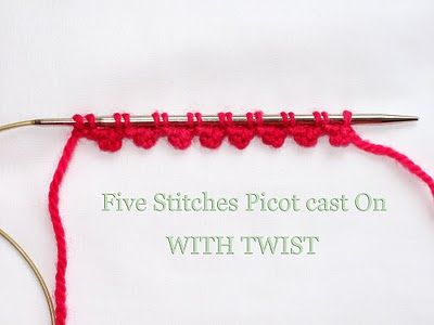 Picot cast on with a twist