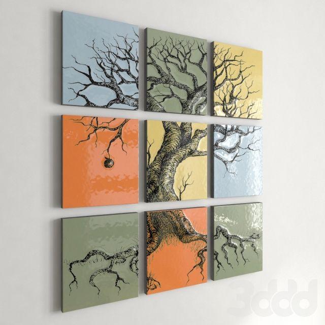Керамический декор Дерево