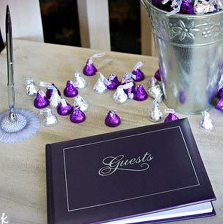 Hershey Kisses Wedding Decorating Idea See More Kiss Favors And Party Ideas At