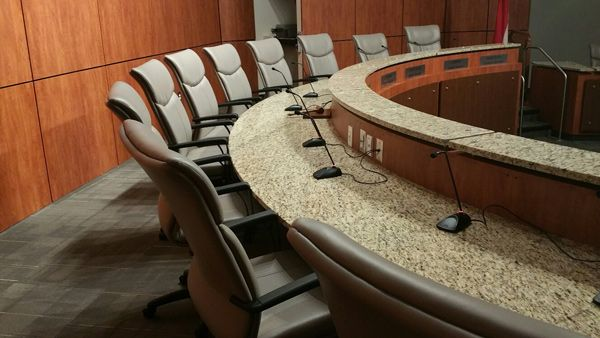 Cherokee County School District - Dr. Frank R. Petruzielo Educational Services Complex (Gaffney, SC)  Respect chairs in a conference room #NationalOffice