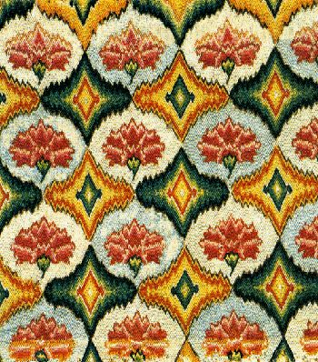 Bargello needlepoint (the carnation pattern) from Victoria and Albert Museum