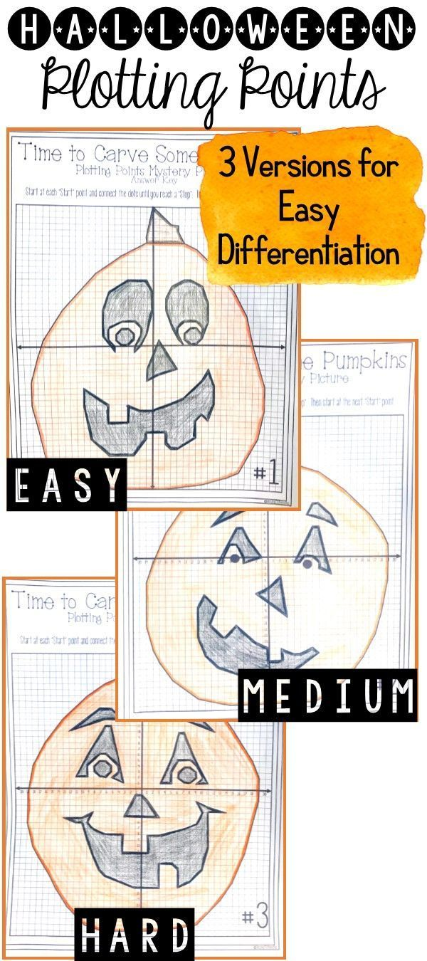 Halloween Pumpkin Carving Plotting Points Mystery Picture School