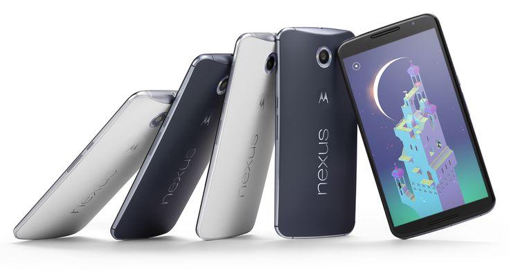 Nexus 6 phones with Monument Valley screenshot