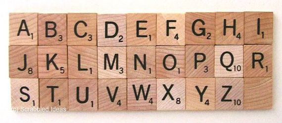 Individual New Style Scrabble Tiles For Sale  by ScrabbledIdeas, $1.75