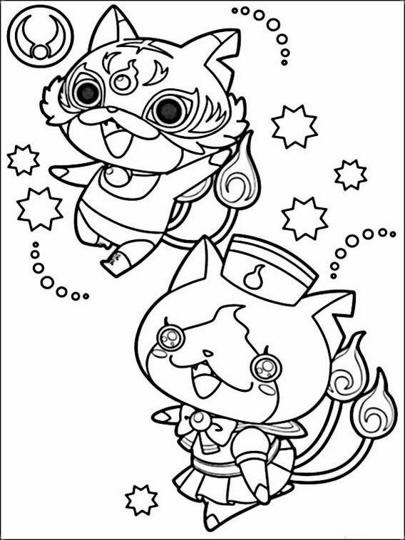 27 best yokai watch images on pinterest  kai coloring
