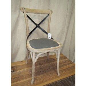 Grey Linen Dining Chair