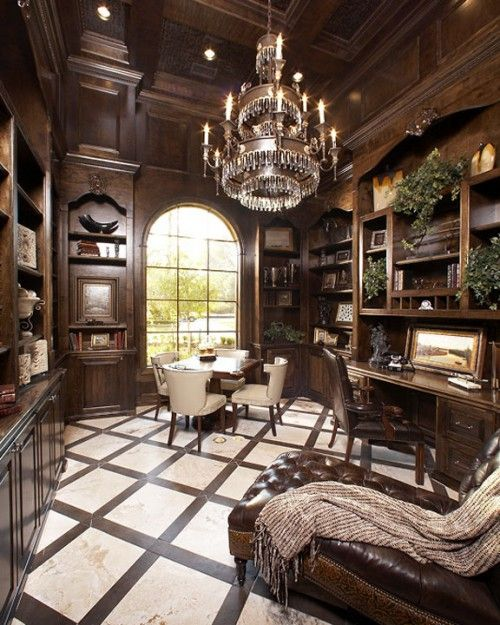 Home Office, Luxury Interiors, Luxury Furniture, Classic Interiors, Chandeliers. For More Inspirations: http://www.bocadolobo.com/en/inspiration-and-ideas/