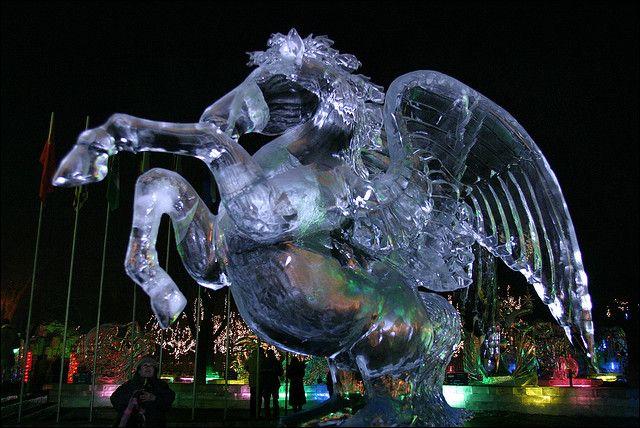 Harbin ice festival Heilongjiang, China