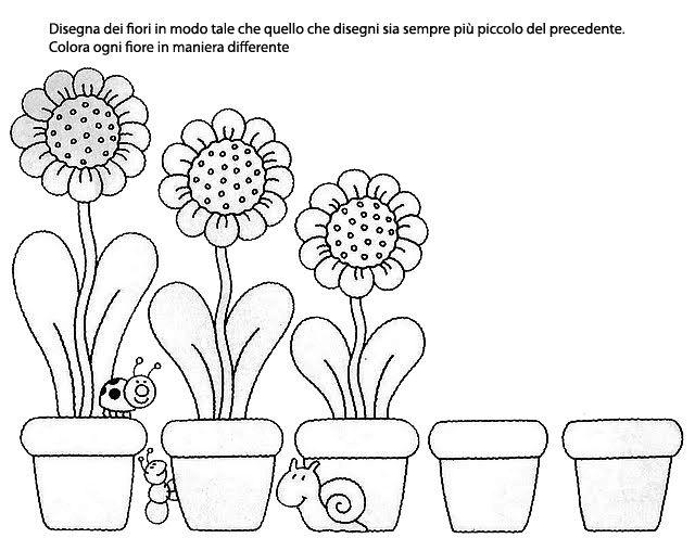 Disegni Da Colorare Fiori Maestra Mary.Schede Didattiche Primavera Maestra Gemma Schede