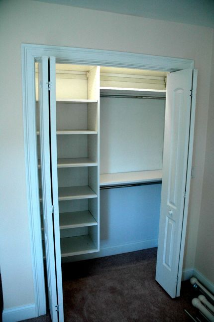 closet organization for basement bedroom closet....dad??